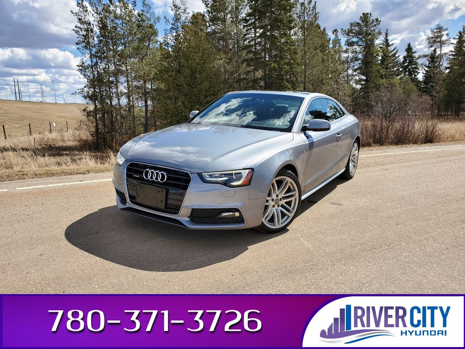 Pre-Owned 2015 Audi A5 S-LINE AWD Navigation (GPS), Leather, Sunroof, Back-up Cam, Bluetooth, A/C,