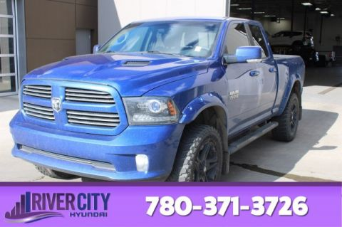 Pre-Owned 2016 Ram 1500 QUAD CAB SPORT 4X4 Leather, Heated Seats, Bluetooth, A/C,